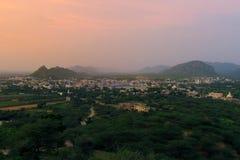 Visión desde el templo de Savitri Foto de archivo