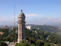 Visión desde el templo de Tibidabo en Barcelona imágenes de archivo libres de regalías