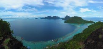 Visión desde el top de Bohey Dulang Fotos de archivo libres de regalías