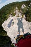 Visión desde el top de la roca con la sombra foto de archivo