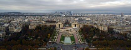 Visión desde el top de la torre Eiffel Fotos de archivo