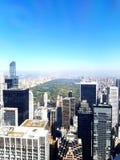 Visión desde el top de Rockefeller de la roca Imagenes de archivo
