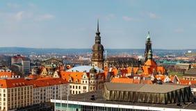 Visión desde el top en la ciudad de Dresden, Alemania Foto del día Imágenes de archivo libres de regalías
