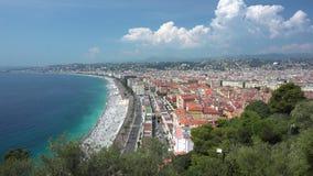 Visión desde el top en la 'promenade' en Niza metrajes