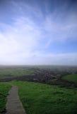 Visión desde el Tor de Glastonbury Fotografía de archivo libre de regalías