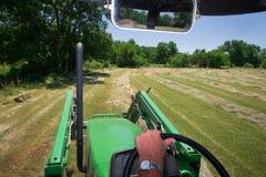 Visión desde el tractor Foto de archivo libre de regalías