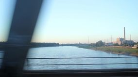 Visión desde el tren almacen de metraje de vídeo