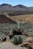 Visión desde el volcán de Teide, isla canaria, España Fotos de archivo