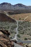 Visión desde el volcán de Teide, isla canaria, España Fotos de archivo libres de regalías