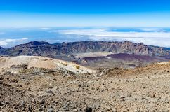 Visión desde el volcán Pico El Teide Fotos de archivo libres de regalías