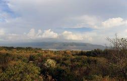 Visión desde Gili Trawangan hacia Lombok Fotos de archivo