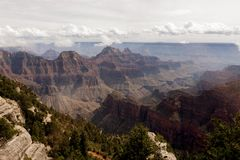 Visión desde Grand Canyon Fotografía de archivo libre de regalías