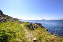 Visión desde Hammerfest, Noruega Imagen de archivo libre de regalías