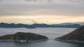 Visión desde Hong Kong Ocean Park Imagen de archivo libre de regalías