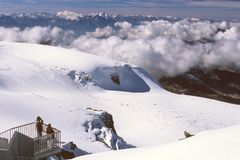 Visión desde Klein Matterhorn Fotografía de archivo libre de regalías