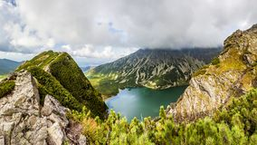 Visión desde Krab en las montañas de Tatra, Polonia, Europa foto de archivo