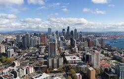 Visión desde la aguja del espacio de Seattle imagen de archivo