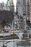 Visión desde la alameda del círculo de Columbus Imagenes de archivo