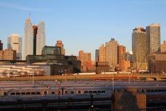 Visión desde la alta línea de Nueva York Imagen de archivo libre de regalías