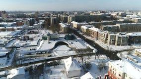 Visión desde la altura del planetario de Yaroslavl Centro de Valenitna Tereshkova Yaroslavl, Rusia almacen de video