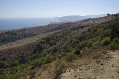 Visión desde la altura Echki-dag de la montaña Fotografía de archivo