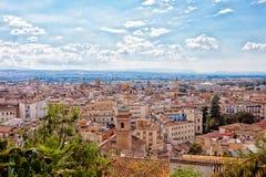 Visión desde la altura a Granada Imagen de archivo libre de regalías