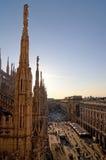 Visión desde la bóveda de Milano Imagen de archivo libre de regalías