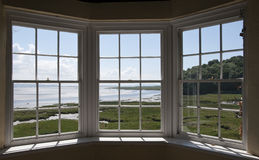 Visión desde la casa de verano del castillo de Laugharne Fotografía de archivo