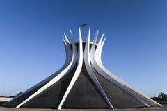 Visión desde la catedral de BrasÃlia Fue planeado por el arquitecto Oscar Niermeyer foto de archivo libre de regalías