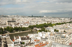Visión desde la catedral de Notre-Drame, París Fotografía de archivo