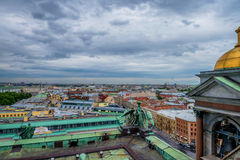 Visión desde la catedral del ` s de Isaac en St Petersburg Fotografía de archivo libre de regalías