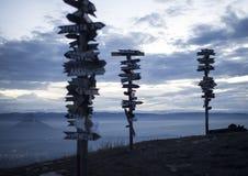 Visión desde la ciudad de Mashuk Pyatigorsk del soporte Foto de archivo libre de regalías