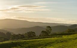 Visión desde la ciudad del campo de Lithgow en NSW Australia fotografía de archivo
