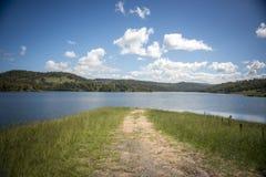 Visión desde la ciudad del campo de Lithgow en NSW Australia imagenes de archivo