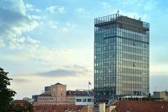 Visión desde la ciudad superior, Zagreb, Croacia imagenes de archivo