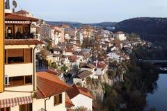 Visión desde la ciudad Veliko Tarnovo Foto de archivo libre de regalías