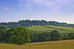Visión desde la colina. Foto de archivo