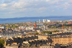 Visión desde la colina de Calton en Edimburgo Imágenes de archivo libres de regalías