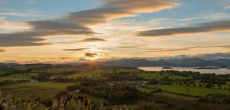 Visión desde la colina de Duncryne sobre Loch Lomond Imagen de archivo
