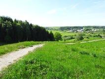 Visión desde la colina de Kartenos, Lituania Imágenes de archivo libres de regalías
