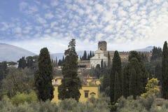 Visión desde la colina de la parte histórica de Florencia Fotos de archivo
