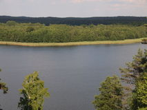 Visión desde la colina de Ladakalnis (parque nacional del taitija del ¡de AukÅ, Lituania) Imagenes de archivo