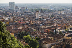 Visión desde la colina en Brescia Fotos de archivo libres de regalías