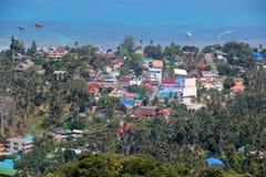Visión desde la colina en la playa de Sairee Foto de archivo libre de regalías