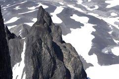 Visión desde la cumbre negra del colmillo Foto de archivo libre de regalías