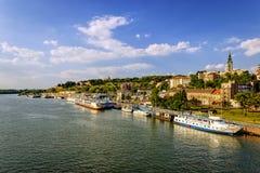 Visión desde la fortaleza de Belgrado, Belgrado Serbia foto de archivo libre de regalías