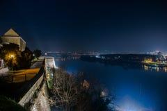 Visión desde la fortaleza de Petrovaradin, Novi Sad, Serbia Fotos de archivo libres de regalías