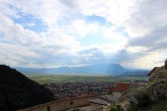 Visión desde la fortaleza de Risnov Fotografía de archivo libre de regalías