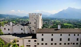 Visión desde la fortaleza de Salzburg Imagenes de archivo
