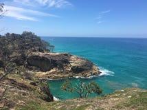 Visión desde la isla del norte de Stradbroke del paseo del norte de la garganta, Queensland Australia foto de archivo libre de regalías